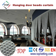 Hanging door metal beads curtain
