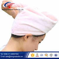 hot sale quick dry microfiber hair wrap