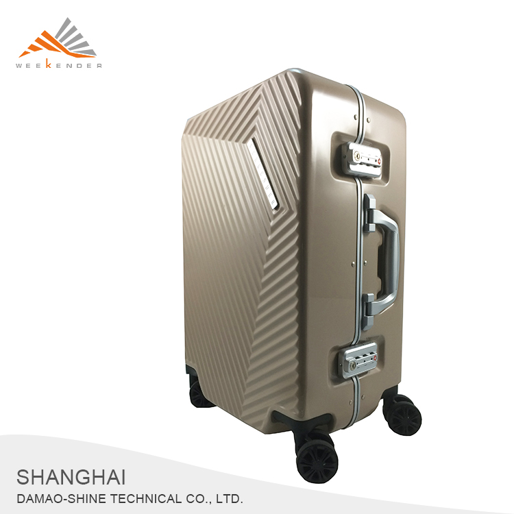 Factory Custom Hard Shell Password Lock Aluminum Frame Luggage
