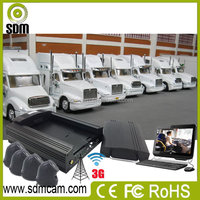 Advanced 4ch truck fleet monitoring system mdvr gps 3g wifi mobile phone, PC live video streaming supported