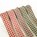 Wholesale Cheap lattice Cotton Linen for Ribbon