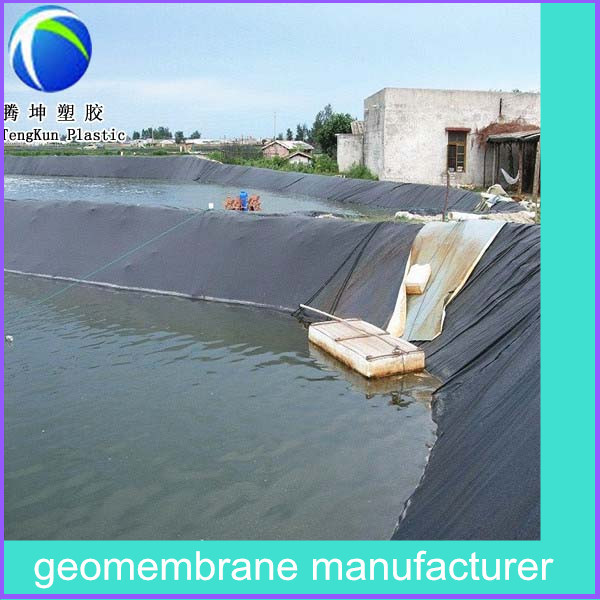Fish farming equipment virgin high density polyethylene for Blue koi pond liner