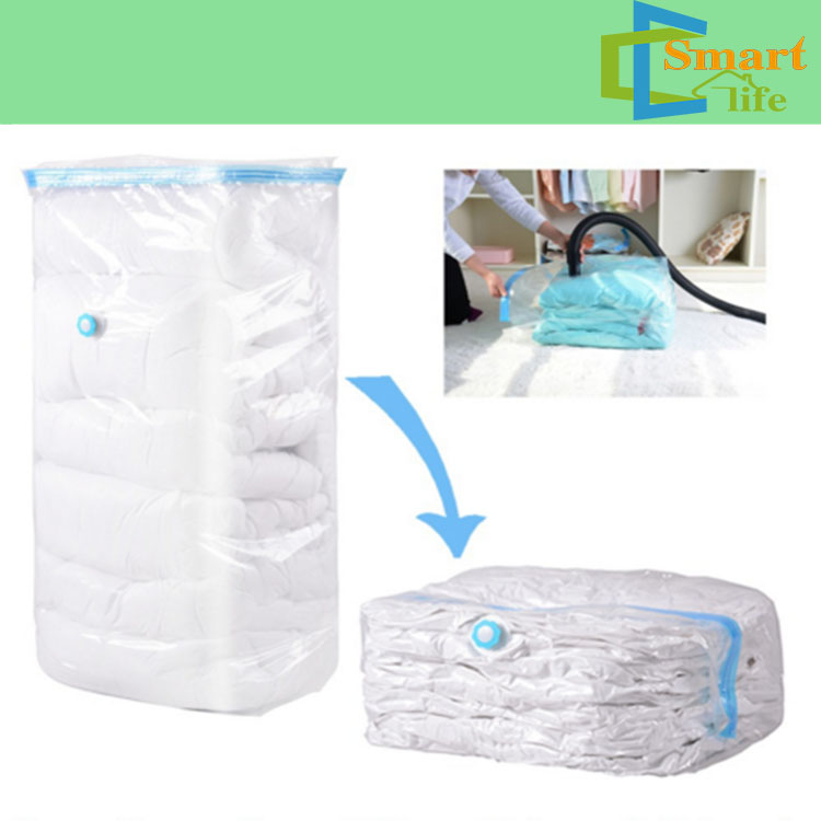 Jumbo size plastic cube shape storage compressed vacuum bag