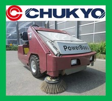 Street Sweeper Power Boss AM9D Used Minuteman From Japan <SOLD OUT>/ Sweep Width 1575m , Kubota Engine V1505-K2A