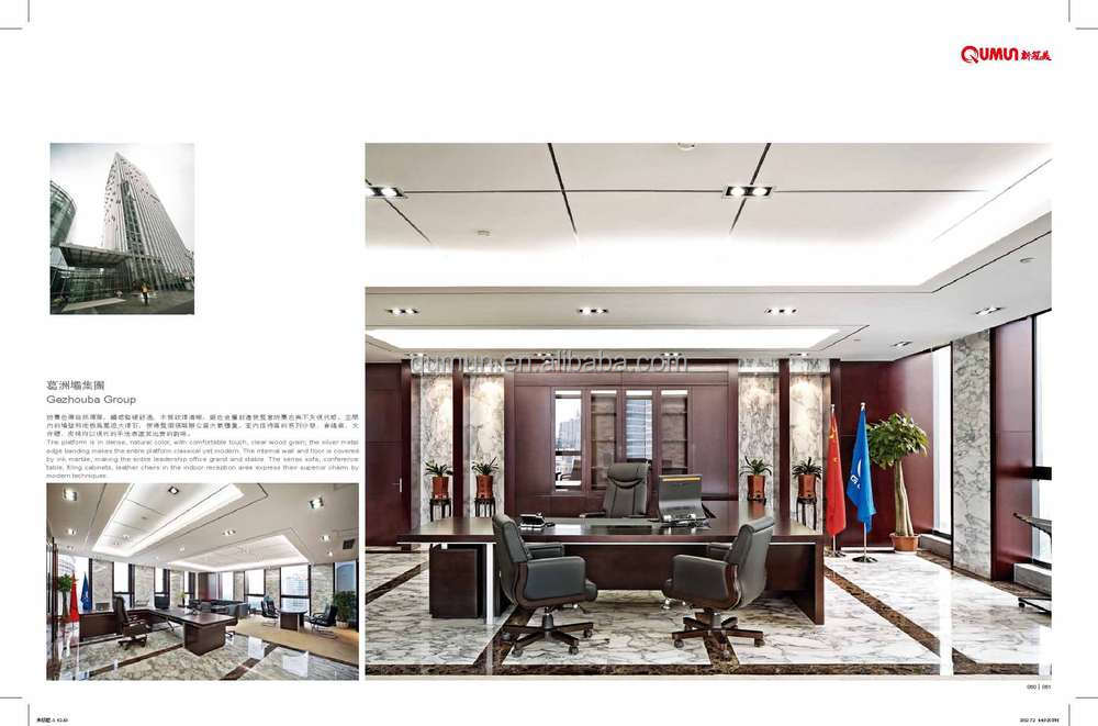 china manufacturer l shape luxury office furniture wooden