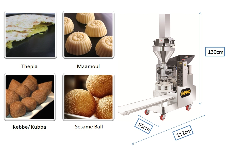 Anko Making Extrusion Automatic Frozen Falafel Making Machine