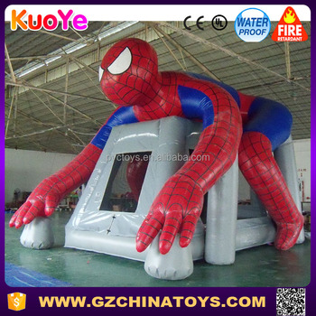 Hot sale cheap bouncy castle spiderman inflatable bouncer for sale