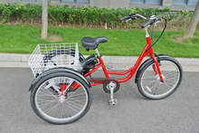 24' adults electric tricycle for cargo / Three wheels electric bike with CE/ three wheel electric motor bike