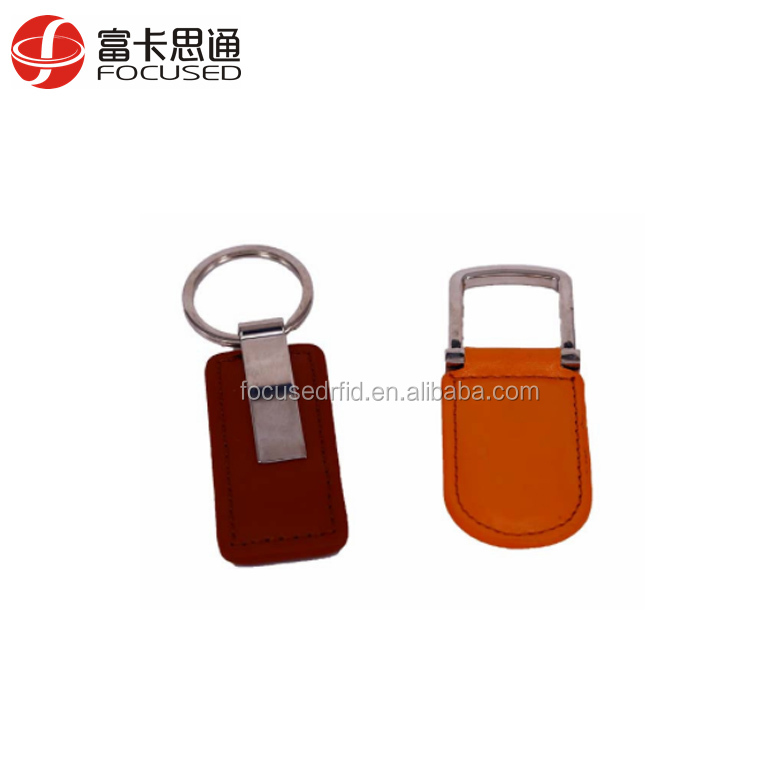 125KHz RFID ID EM4100 Proximity Induction Leather Tag Keyfob Access Control