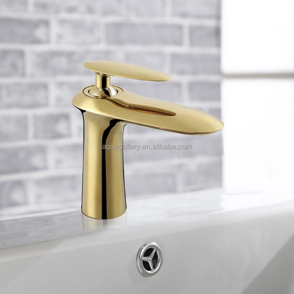 Gold Plated Solid Brass Hot and Cold Basin Faucet