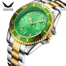 Expensive luxury brand low moq men golded wrist watch stainless steel back water resistant geneva watch