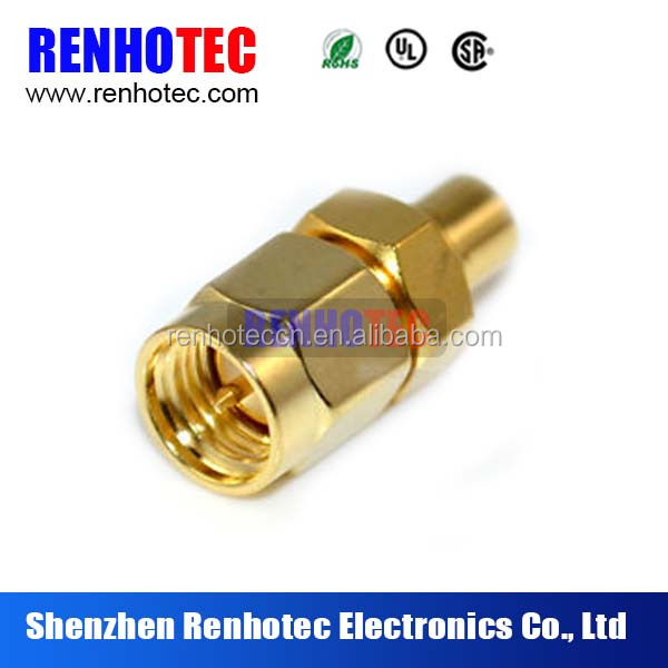 Fast Delivery Brass Material Straight Wire Terminals SMA Male Connector