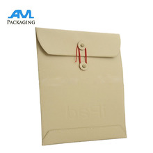 Fancy Expandable Kraft Paper Mailing Envelope Bag With Button And String Closure