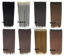 5clips Synthetic Hair Clip In Hair Extensions, Any Color, Any Style. Factory Price Synthetic Clip In Hair Extensions