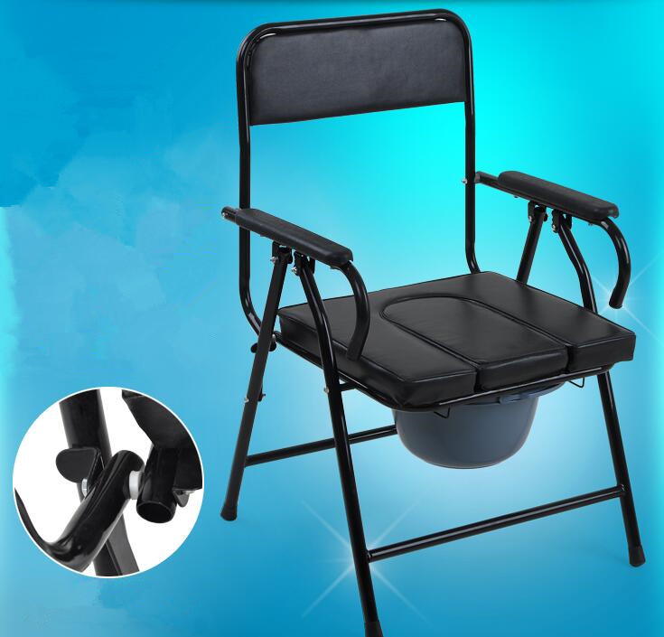 The comfortable hospital commode seat chair with babpan in toilet