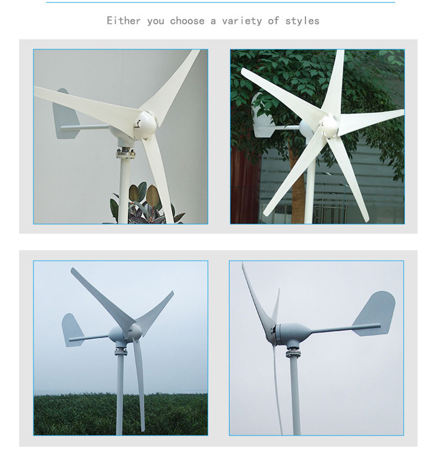 Three Phase AC 24V 3 blades windmill 500W 500watts wind generator turbines Small home system use easy installtion