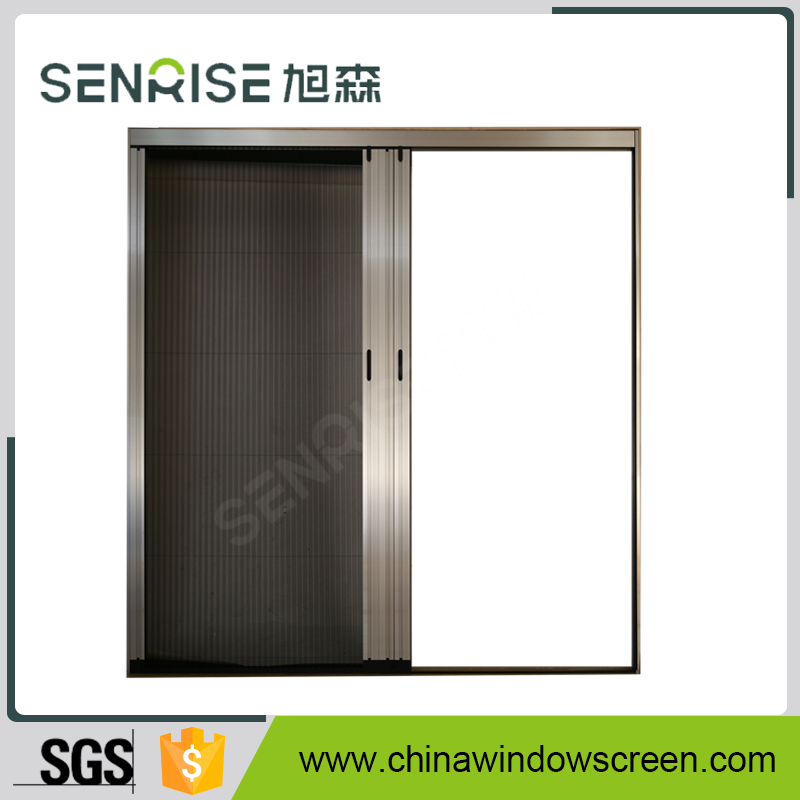 pleated mesh folding screen door