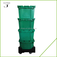 35kgs Attach Lid Logistic Plastic Security wholesale plastic totes