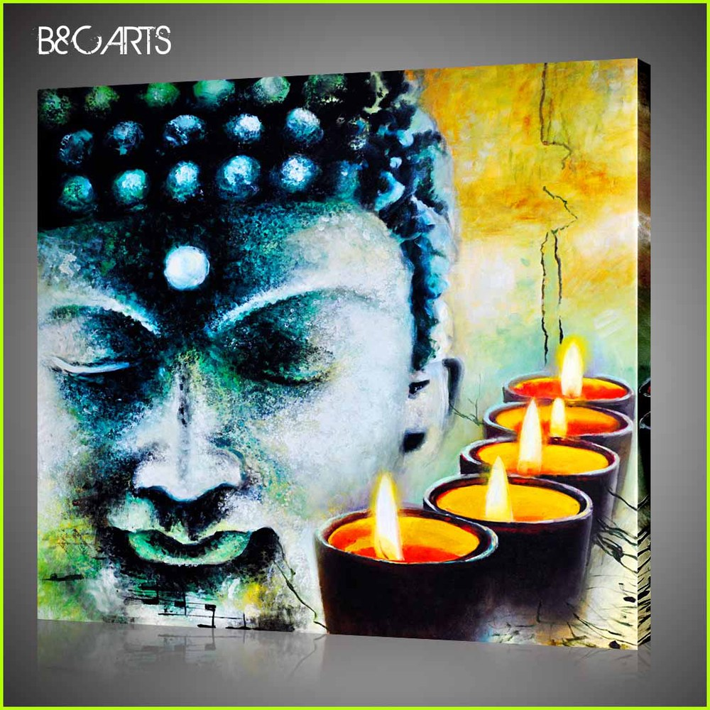 2014 New Buddha Design Printing Painting on Canvas