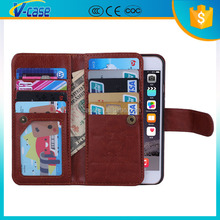 Flip Wallet Leather Case With Credit Holder 6 colors stocks For Iphone6