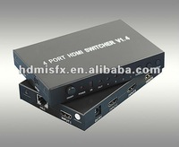 3D hdmi audio projector switcher,mini 4*1 hdmi 1.4 1080p adapter