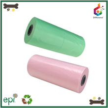 Multi-color custom biodegradable garbage bags for pets