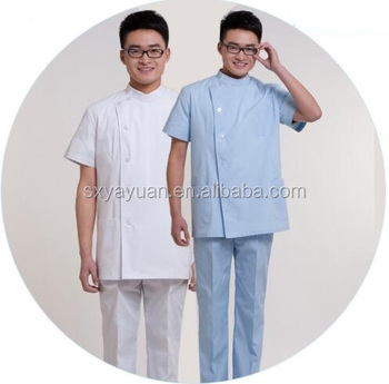 The new men's doctor's short-sleeved uniform of the new men's wear
