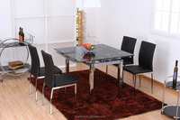 extendable square elegant home furniture dining room set
