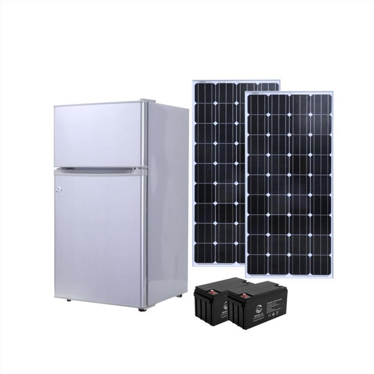 2018 new90L DC solar refrigerator solar power cheap price 12V/24V home <strong>appliance</strong> 12V/24V DC solar refrigerator