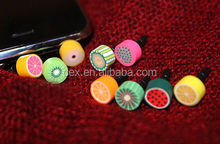 Colors Fruit Accent Anti Dust 3.5mm Earphone Dust Plug for iPhone 5 5s Samsung HTC Blackberry and other Smart Phone