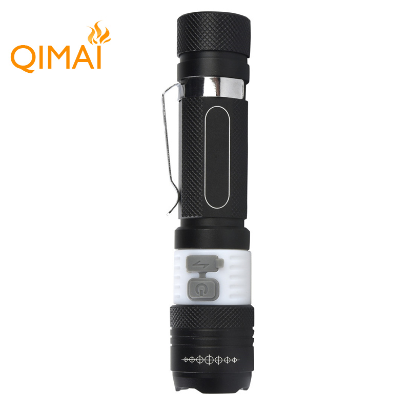 Hot Sale Telescope Rotary Zoom Japan Flashlight Rechargeable LED Torch With USB Charging