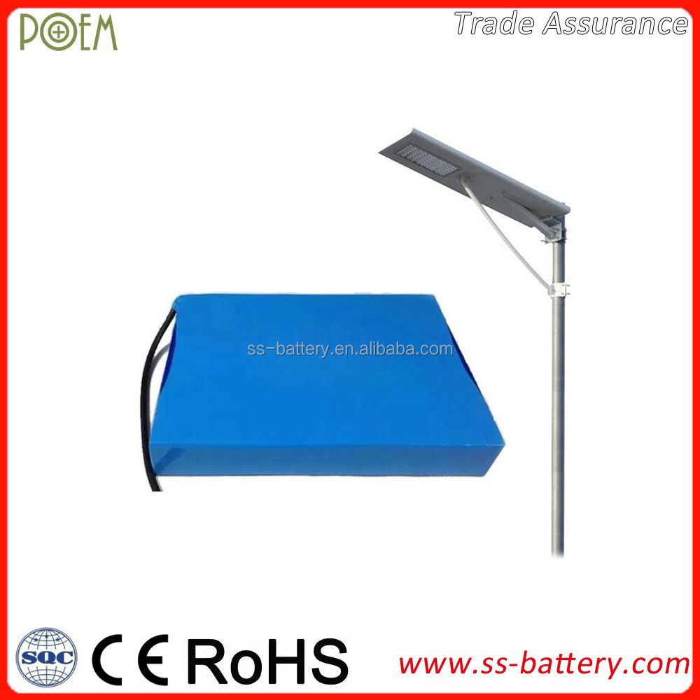 CE approved LiFePO4 rechargeable battery 12v 30Ah for solar energy storage