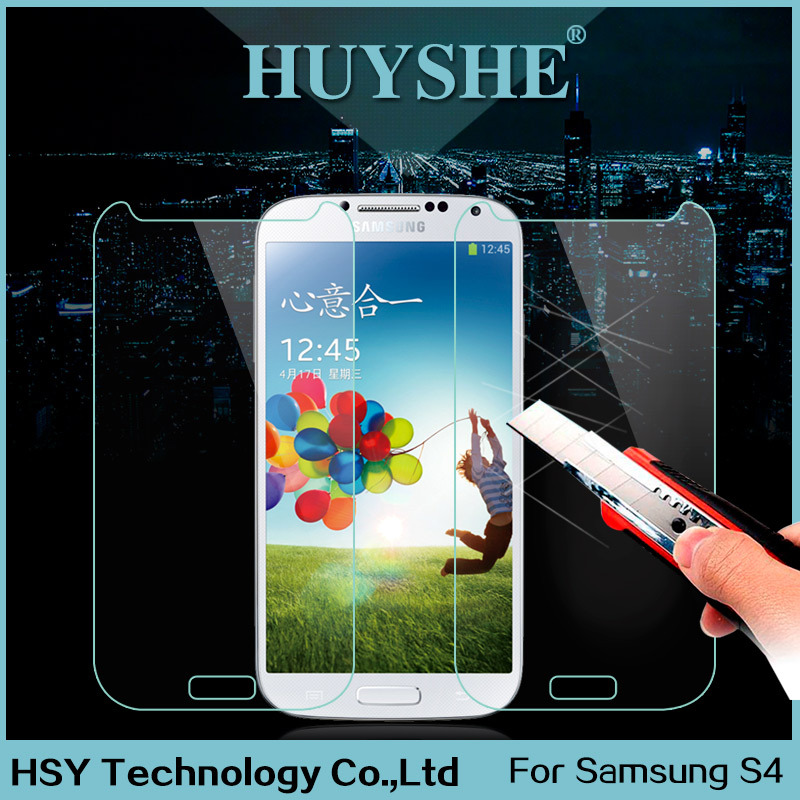 HUYSHE 0.33mm ultra-thin tempered glass 3m privacy screen protector for samsung galaxy s4