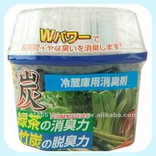 Wood charcoal deodorants with container for fridge (80g)
