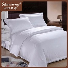 Luxury 100% cotton white hotel bed sheets, cheap hotel bed sheets