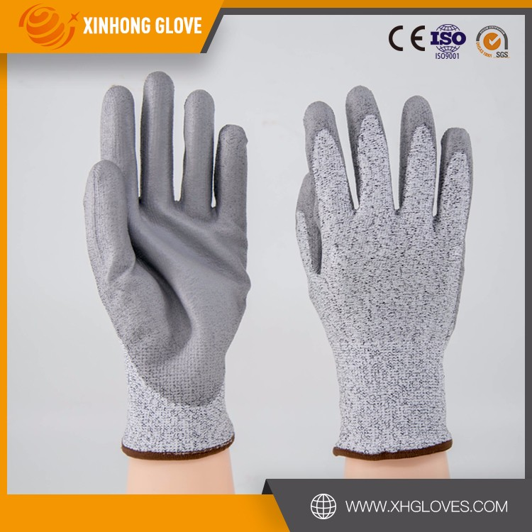 Brand Grey Nylon-Carbon Knitted Glove Anti Static Half Finger Glove
