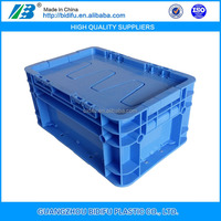 stackable plastic moving crates with lid for warehouse storage and moving
