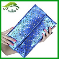 New modern lady hollow envelope bag women clutch purse and evening bag