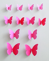 3D decoration wedding white butterfly