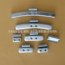 fe clip on steel wheel balance weight (zn plated)