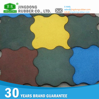 Outdoor Floor Rubber decorative floor tile