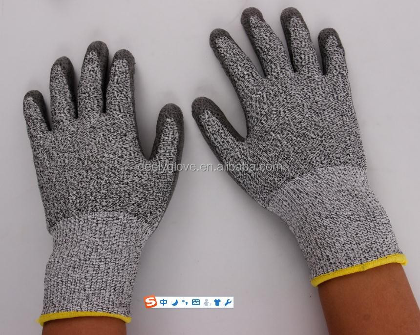 Pu Palm Coated Kitchen Cut Resistant <strong>Gloves</strong> With Anti Cut Level 5 <strong>Gloves</strong>