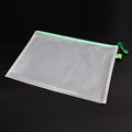 pvc mesh zipper file folder bag
