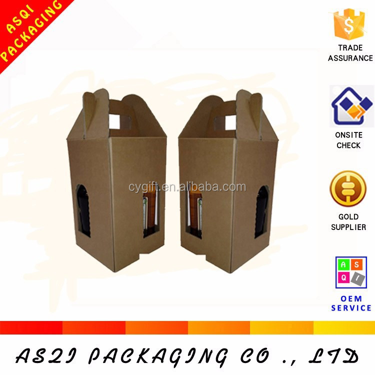 Fancy Design Glossy Gift Paper carton corrugated cardboard 4 bottle wine bottle box with Ribbon Closure