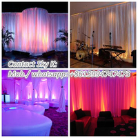 wedding tent drapery, christmas stage backdrop