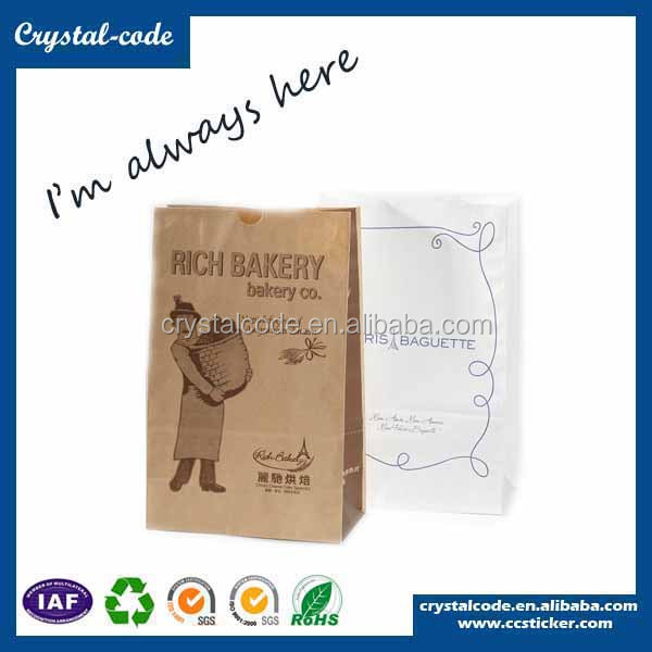 Cheap brown shopping paper bread bags with your own logo shopping