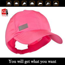 New fashion manufacturer customized red unisex cotton cap