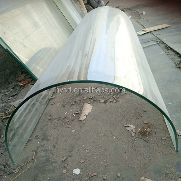 Beijing Haiyangshunda Building Glass tempered curved glass price with CE AS/NZS2208 certification