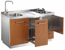 color combinations 304 stainless steel commercial mini kitchen cabinet