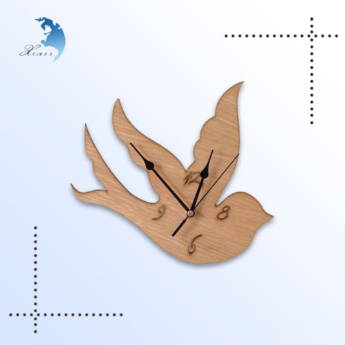 2014 wholesale art hone decoration wooden wall clock